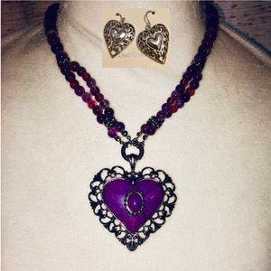 Purple Dolomite (Mountain Jade) Semi-Precious Set